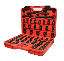 "ABN 1/2"" Inch Drive Impact Socket Set with Extensions & Swiv"