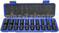 "10pc 3/8"" Drive Universal Swivel Deep Impact  Socket Set CR"