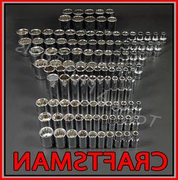 CRAFTSMAN 116pc 1/4 3/8 1/2 Dr SAE&METRIC MM 6pt 12pt ratche