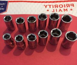 Craftsman 12 piece 1/2 Drive 6 point Standard Metric MM / SA