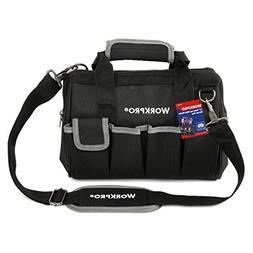 """WORKPRO 12""""Storage Tool Bag Backpack Top Strap Thicken Multi"""
