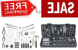 130 pc Tool Set w/Case Home/Shop/Auto Repair Kit SAE & Metri