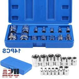 14 piece E Torx Socket Set In a Storage Case Star Female Soc