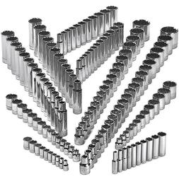 Craftsman 142 Piece 12 Point Socket Set Deep & Standard 1/4
