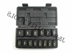 "14pc Impact Socket Set 1/2"" inch Drive Metric Standard Autom"