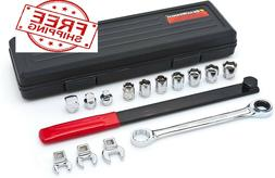 GEARWRENCH 15 Pc. Ratcheting Serpentine Belt Tool Set - 3680