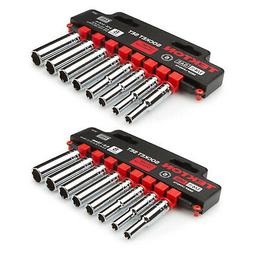 "16 Piece 1/4"" Drive Deep Length Socket Set 6 Point Metric &"