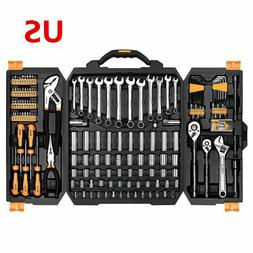 DEKO 192 PCS Hand Tool Tool Set Socket Wrench Set Auto Repai