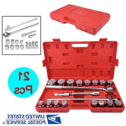 "21PC 3/4"" Standard  Drive Socket Set+Storage Case Jumbo Ratc"