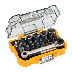 24 Piece High Performance Socket and Screwdriving Set With C