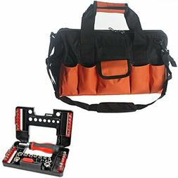 28 Pocket Tool Bag Heavy Duty + 38 Piece Screwdriver Ratcher