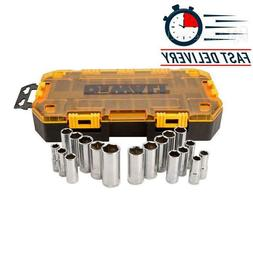 3/8 in. Drive Deep Combination Socket Set with Case  FREE SH