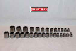 "CRAFTSMAN 30 pc Socket Set 3/8"" Drive LASER ETCHED 6 pt SAE"