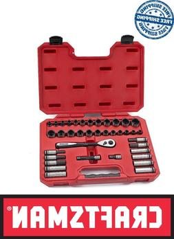 CRAFTSMAN 38 PC UNIVERSAL SOCKET WRENCH RATCHET SET DEEP STD