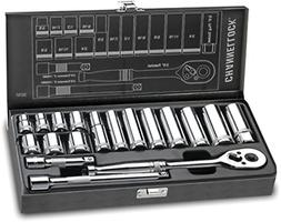 "Channellock 38181 3/8"" Drive Standard Socket set, 18 Piece"