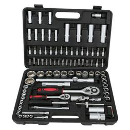 94pcs 1/4 and 1/2-inch Wrench Socket Screwdriver Tool Set Ki