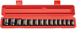 TEKTON 1/2 Drive Shallow Impact Socket Set Metric, Cr-V, 11-