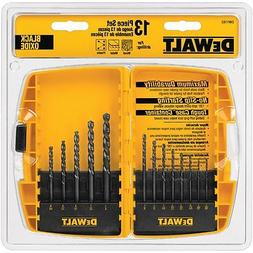 DEWALT 13 Piece Black Oxide Drill Bit Set - DW1163