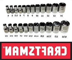 Craftsman Laser Etched Easy Read 29 Piece SAE Standard & Met