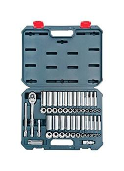 Crescent CSWS10 3/8-Inch Drive Socket Wrench Set, 52-Piece,