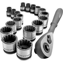 "Craftsman 19-piece 3/8"" Dr. Inch and Metric Universal Socket"
