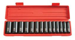 "Tekton 14Pc. 1/2"" Drive 12-Point Deep Impact Socket Set METR"