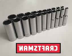 "Craftsman 21 Piece 1/4"" Drive 6 Point Deep Well Socket Set"