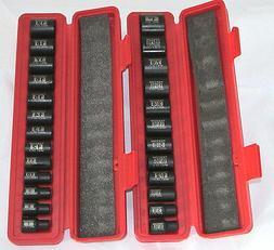 "Tekton 25 Pc. 3/8"" Drive 6-Point Shallow Impact Socket Set S"