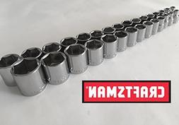 "Craftsman 30 Piece 3/8"" Drive 6 Point Socket Set"