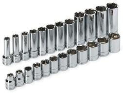 "89024 24 Piece 3/8"" Drive 6 Point Standard, Deep and Extra L"
