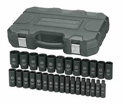"1/2"" Drive Deep Metric Impact Socket Set"