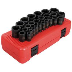 "Sunex 26 Piece 1/2"" Drive Metric Impact Socket Set - SUN2645"