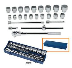 "Williams 33905 25 Pieces 3/4"" Drive Socket Set in Metal Box"