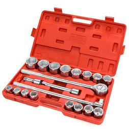 "XtremepowerUS 21Pc 3/4"" Drive Socket Wrench Set 6 Points Soc"
