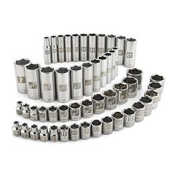 Craftsman 52 Pc Easy Read Socket Set Deep And Standard 3/8 D