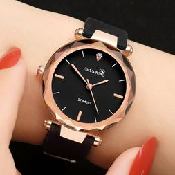 Fashion Womens Lady Casual Watches Geneva Silica Band Analog