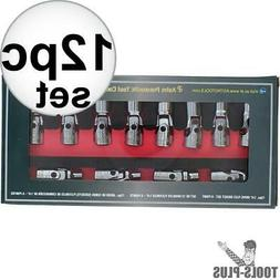 12Pc Flex Socket Set-6 Point Met