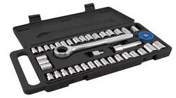GreatNeck PSO40H Ratchet and Socket Set with Handle, 40-Piec