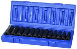 """Grey Pneumatic GY1203MD 3/8"""" Drive 13 Pieces 12 Point Deep M"""