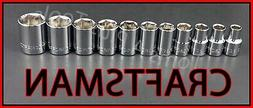 """CRAFTSMAN HAND TOOLS 11pc LOT 1/2"""" Dr SAE 6pt ratchet wrench"""