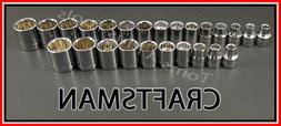 CRAFTSMAN HAND TOOLS 25pc 3/8 12 pt SAE & METRIC MM ratchet