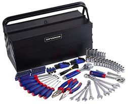 WORKPRO 183PC Handtool Set Pliers Sockets Bits Wrench Home R