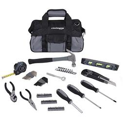 AmazonBasics 65-Piece Home Repair Kit, Basic Tool Set for Ho