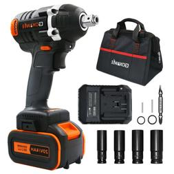 GOXAWEE Impact Wrench Kit Brushless Cordless Driver Set with