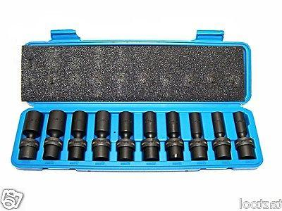 "10 3/8"" Drive Universal Swivel Impact Socket Set CR METRIC"