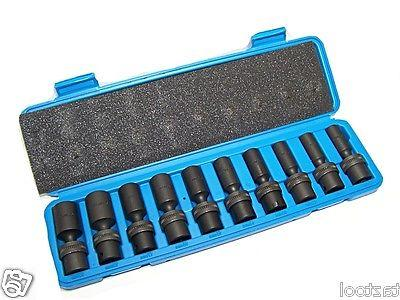 "10 Pc 3/8"" Universal Swivel Socket Set METRIC"