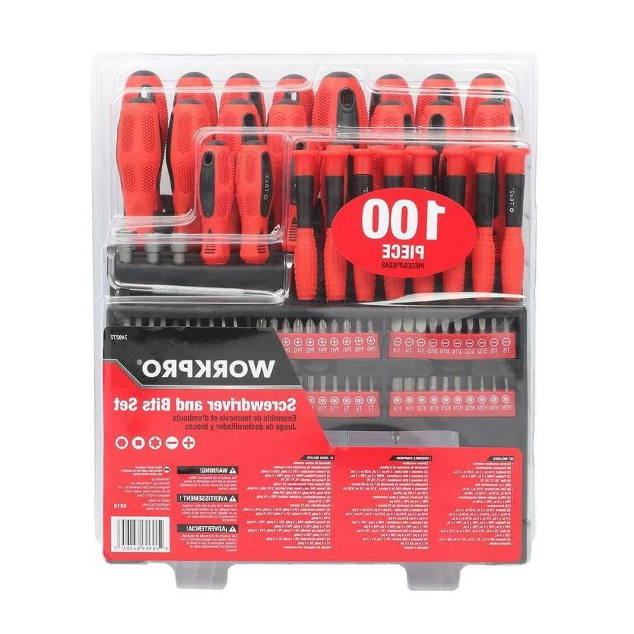WORKPRO 100-Piece Variety Pack Screwdriver and Bits Set