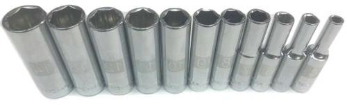 11pc 1/4 Metric Deep 6pt Point CRAFTSMAN LASER ETCHED Socket
