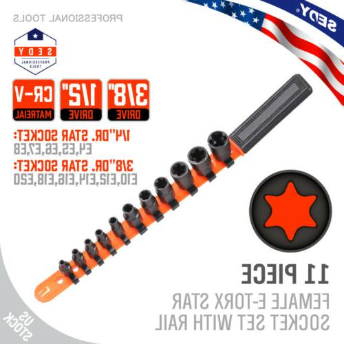 11pc torx star bit female external e