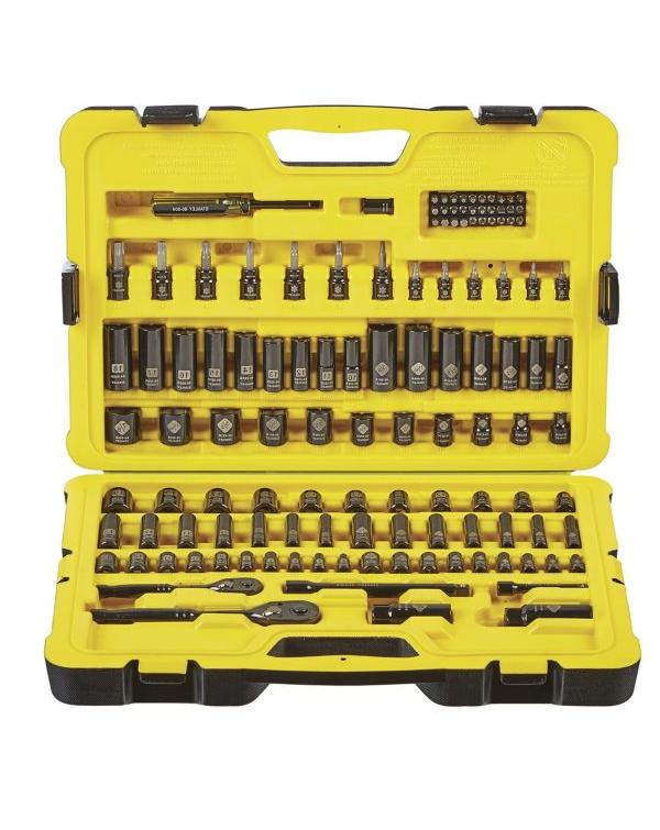 Stanley 122-piece Professional Grade Black Chrome Socket Set